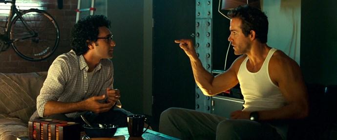 Taika Waititi and Ryan Reynolds in Green Lantern