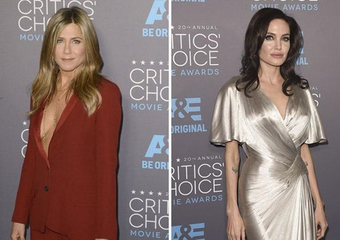Jen and Angie at the 2015 Critics' Choice Awards.
