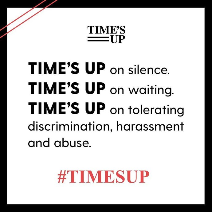 """Jennifer Lopez said """"Everyone's resolution for the year: No more accepting sexual harassment and inequality at work as normal. It's not normal. #TIMESUP"""""""
