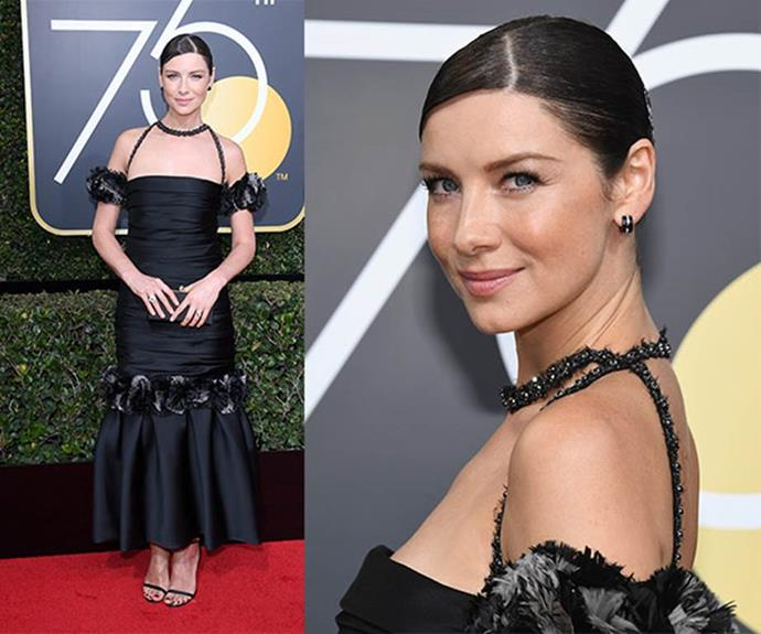 """*Outlander* star **Caitriona Balfe** posted several times on Instagram about the Time's Up movement. One post noted that """"In the last 10 years, only 4% of top-grossing directors were female. Only 7 of these directors were women of colour."""""""