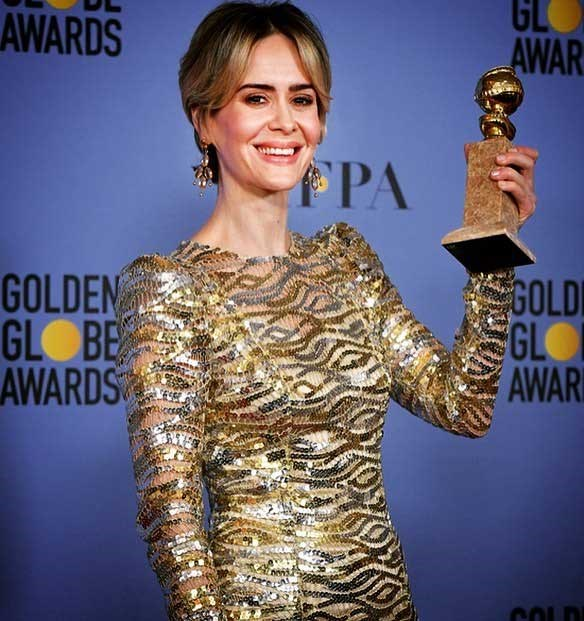"""*American Horror Story* star [**Sarah Paulson** Instagrammed](https://www.instagram.com/p/BdqRPYSgyuG/?taken-by=mssarahcatharinepaulson