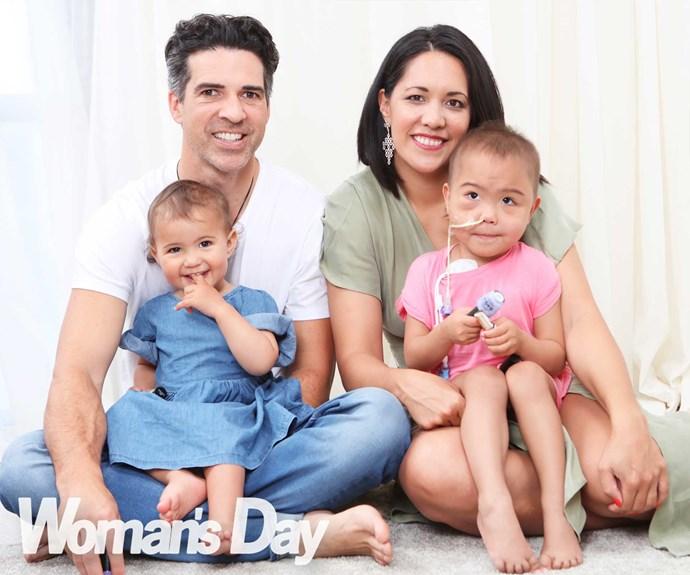 Dad Manihera,  little sister Te Atakohu and mum Moana with their precious, spirited girl Ka'iulani.
