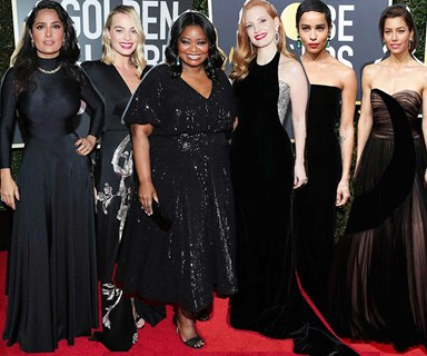 Time's Up: Why the stars are wearing black to the Golden Globes
