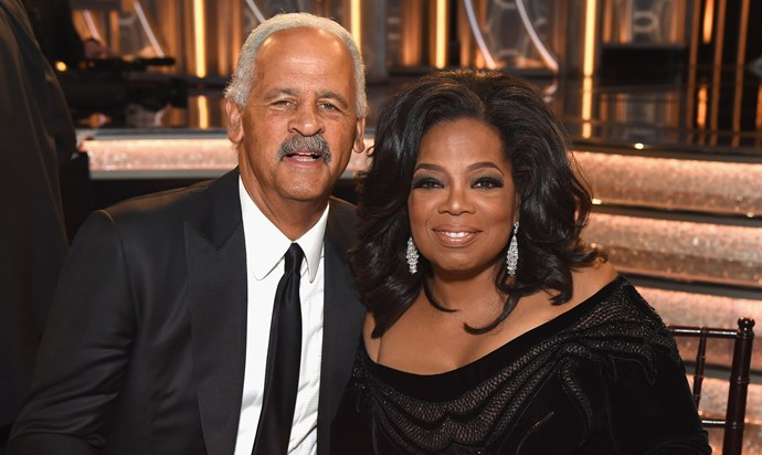Stedman Graham and Oprah Winfrey at  The 75th Annual Golden Globe Awards