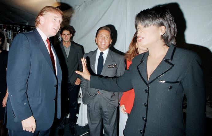 Donald Trump and Oprah Winfrey in 1996.
