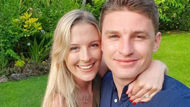 Beauden Barrett and Hannah Laity are engaged