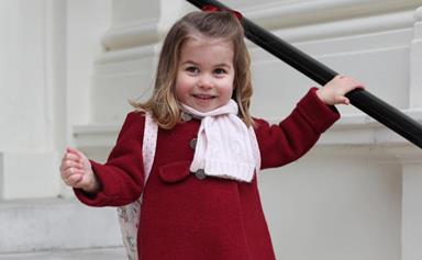 Kate and William share new photos of Princess Charlotte on her first day of nursery school