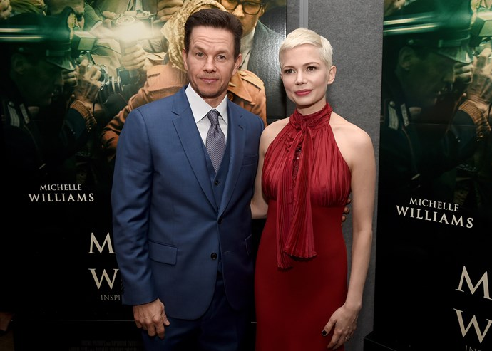 Mark Wahlberg and Michelle Williams at the premiere of 'All The Money In The World'
