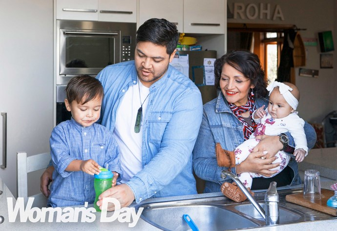 With so many of their fabulous whanau in residence, it's all hands to the pump – and the grandparents of six wouldn't have it any other way!