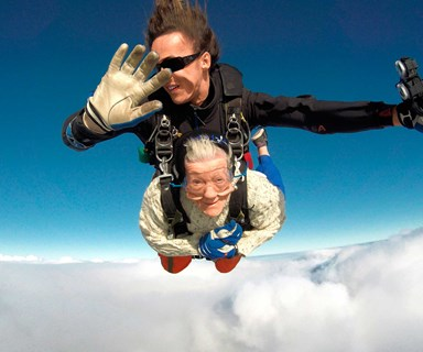 The 101 year old skydiving great-grandma