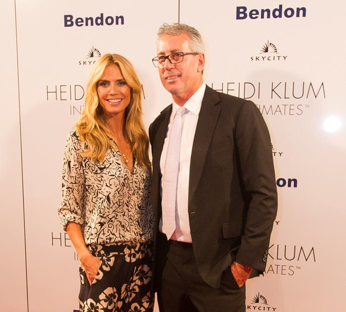 Heidi Klum and Eric Watson at the Auckland launch of her Heidi Klum Intimates collection for Bendon in 2015.