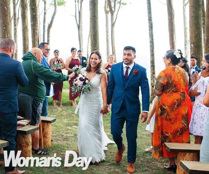Rugby stars Pita Ahki and Kayla McAlister's dream wedding