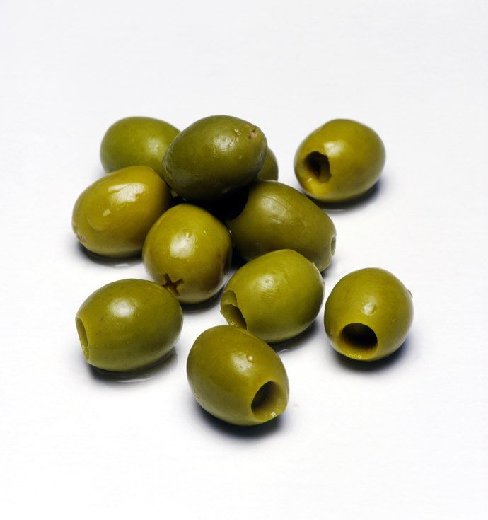 **Olives**                                                                                                                                                                                                   10-15 olives will give you a small iron hit and a slightly bigger dose of antioxidant vitamin E.