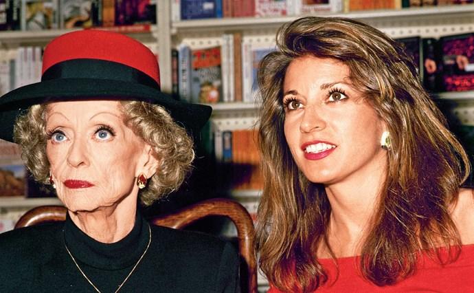 Bette Davis and Kathryn Sermak in 1987.