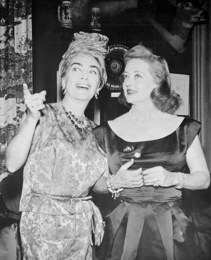 Bette with Joan Crawford in 1962.