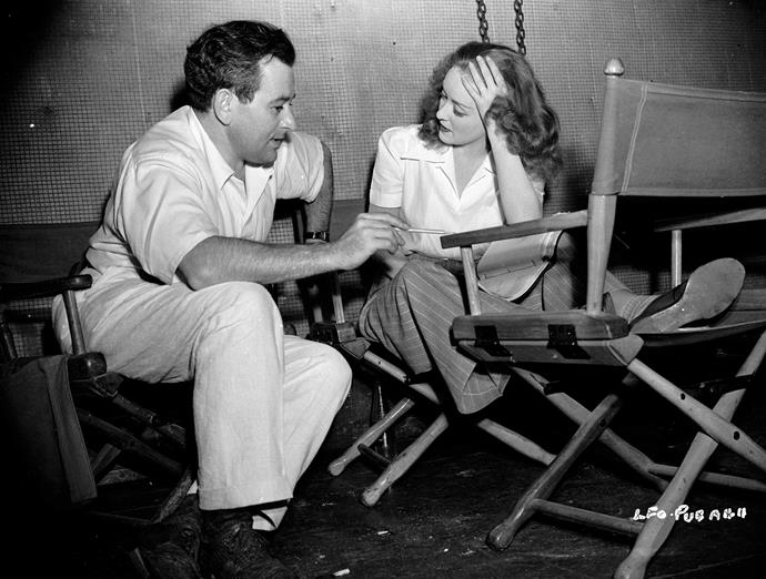 With one of her great loves, director William Wyler.