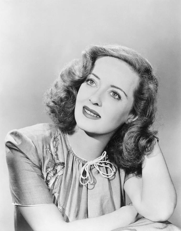 Bette Davis as a Hollywood belle.