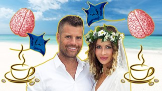 Pete Evans and Nicola Robinson's mind expanding honeymoon