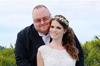Kim Dotcom marries Elizabeth Donnelly
