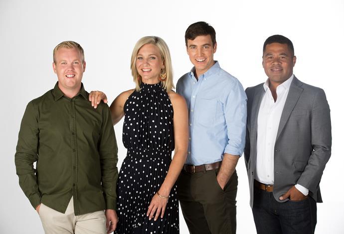 The new Breakfast show lineup of Matt McLean, Hayley Holt, Jack Tame and Daniel Daniel Faitaua.