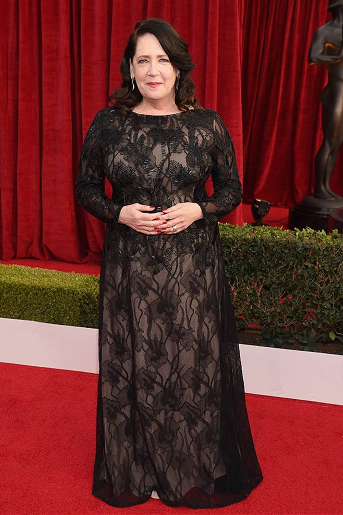 Actress Ann Dowd oozes elegance in a timeless black gown.