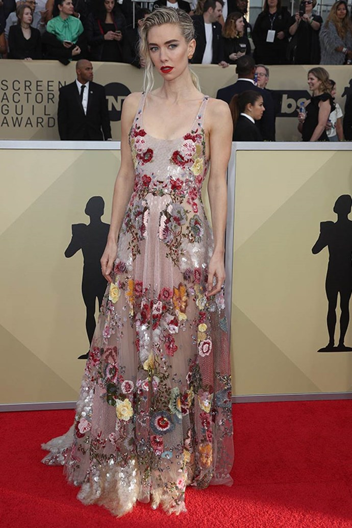 Princess Margaret off-duty! The royal would certainly approve of Vanessa Kirby's sexy floral dress.