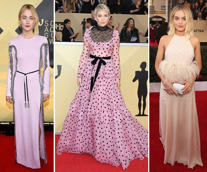 Every single dazzling dress from the 2018 SAG Awards red carpet