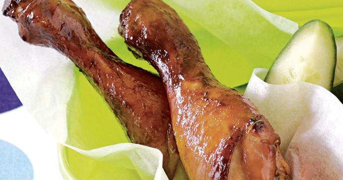 Sticky chicken drumsticks