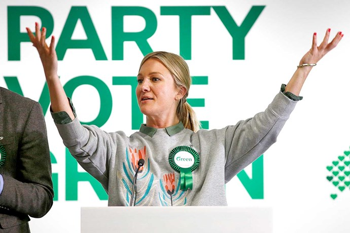 Hayley during her time as a Green Party candidate.