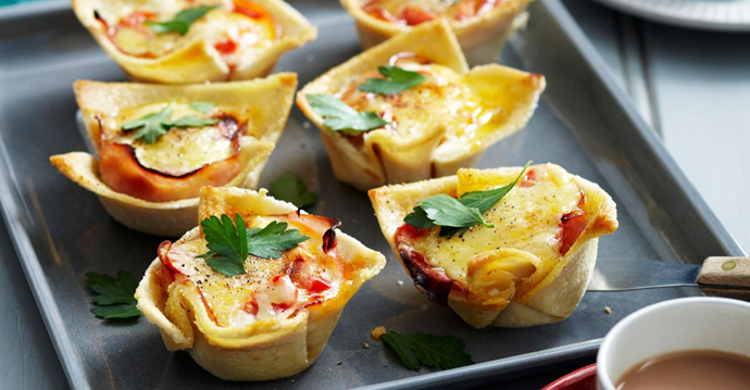 Easy mini bacon and egg pies