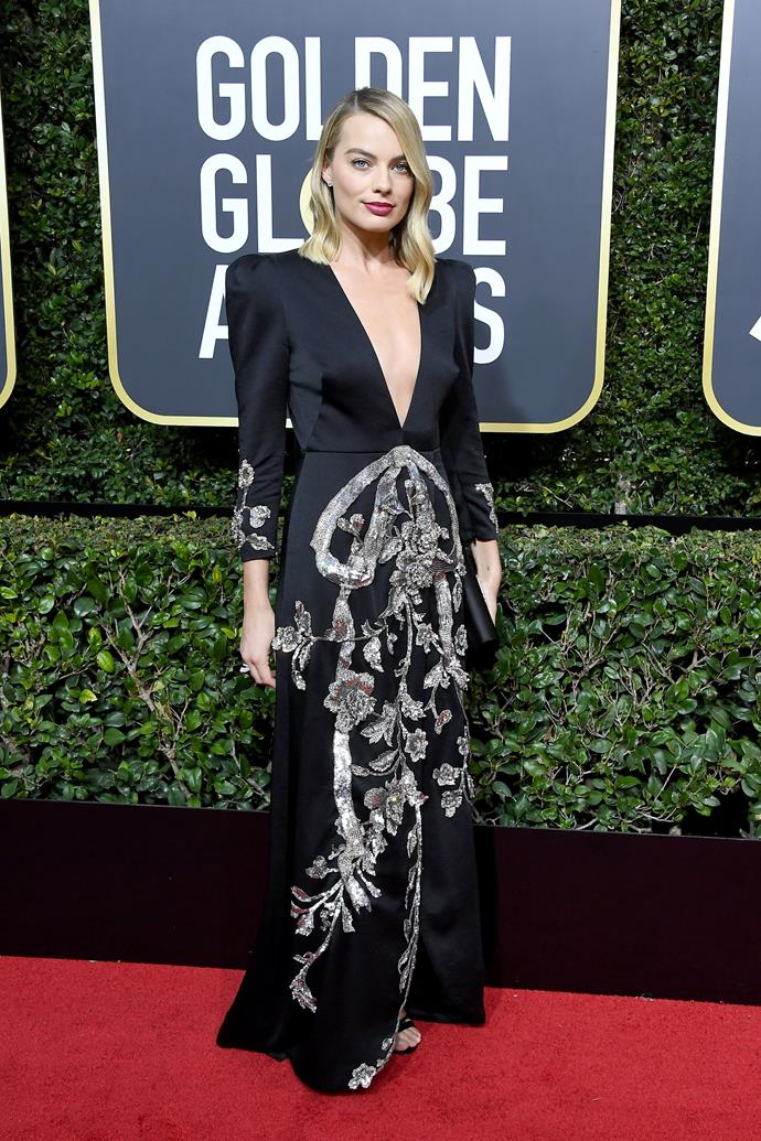 """**The 75th Golden Globe Awards**  Sticking with the [all-black dress code](https://www.nowtolove.co.nz/celebrity/entertainment/was-the-blackout-at-the-golden-globes-actually-groundbreaking-36009