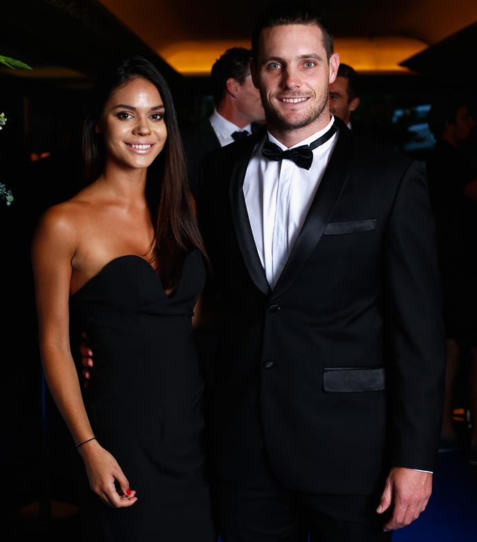 Renee and Black Caps star Mitchell McClenaghan attend the New Zealand cricket awards in 2015.