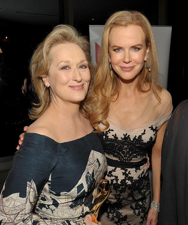 Meryl Streep and Nicole Kidman worked together in The Hours but didn't share any scenes together.