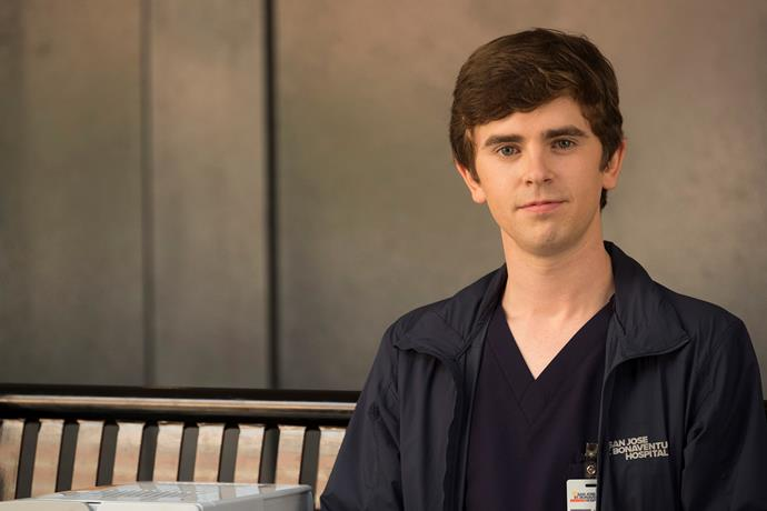 Freddie Highmore plays Dr Shaun Murphy, a young surgeon with autism and savant syndrome.