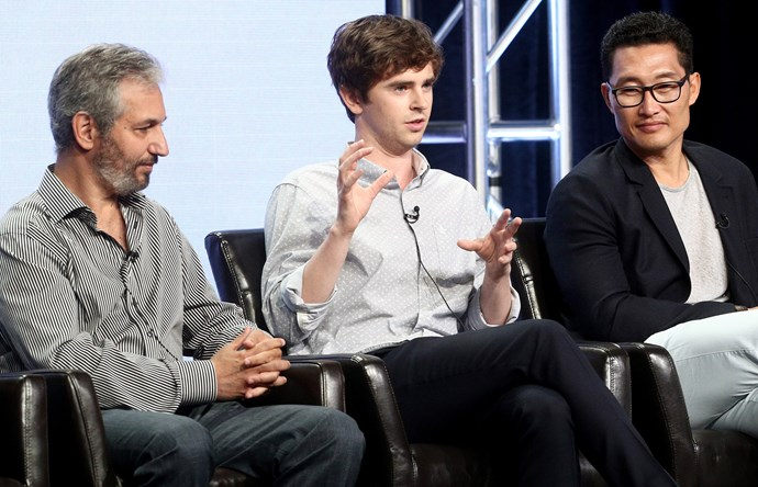 David Shore, Freddie Highmore and Daniel Dae Kim.