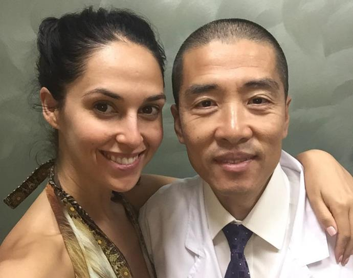 Zoe with Dr Liu, the man whose controversial detox plan she took to try and fall pregnant.
