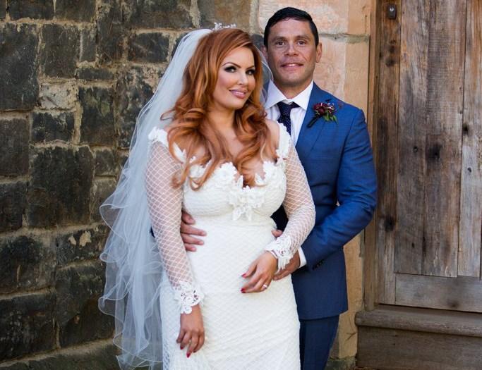 Sarah and her MAFS groom Telv