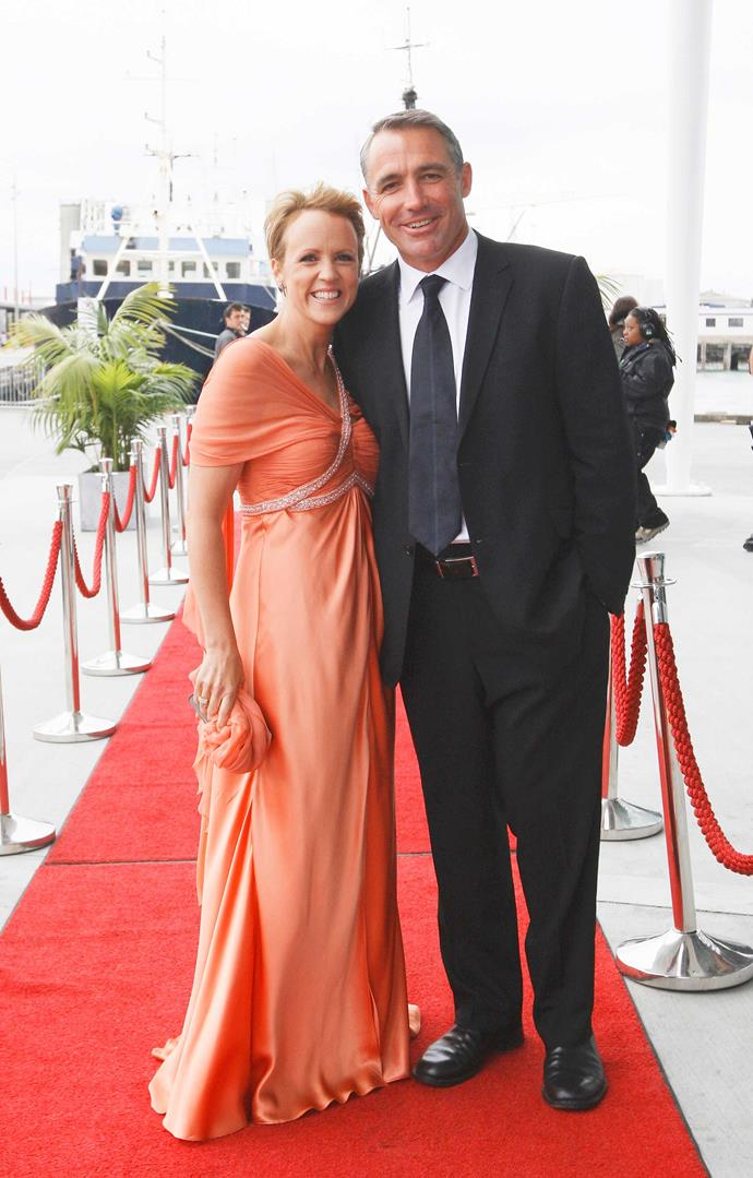 With husband Michael in 2011.