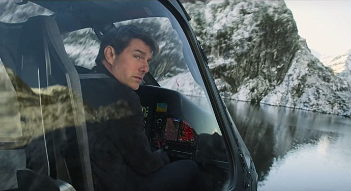 The film shows off Tom's flying skills - and the spectacular Queenstown landscape.