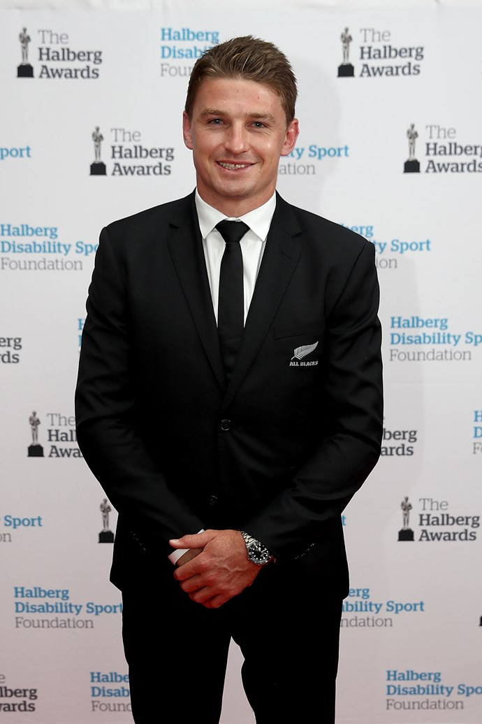 All Blacks star Beauden Barrat was a finalist for the Halberg Sportsman of the Year Award.