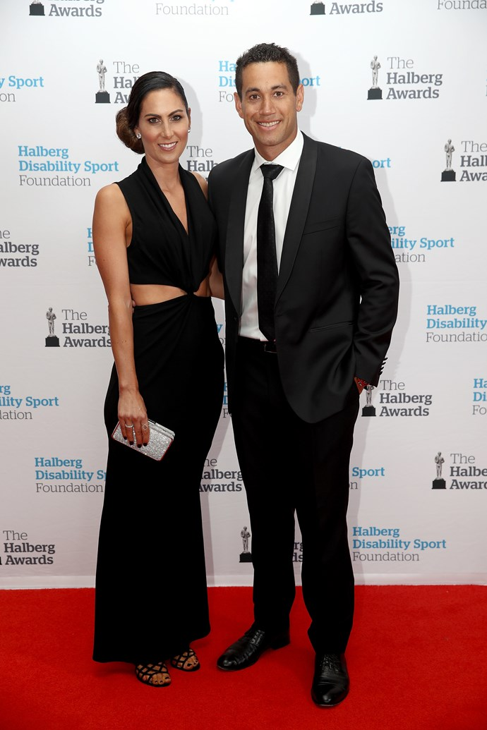 Cricket legend Ross Taylor alongside his wife Victoria Taylor.