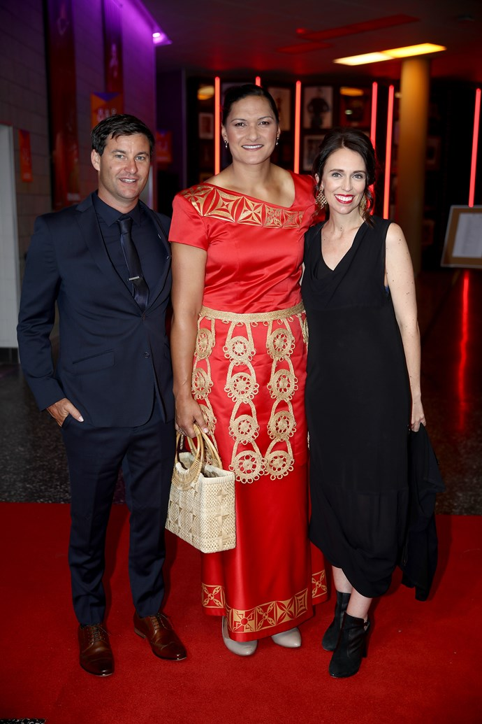 Last but not least, Clarke Gayford, Valerie Adams and PM Jacinda Ardern look like quite the trio on the red carpet together.