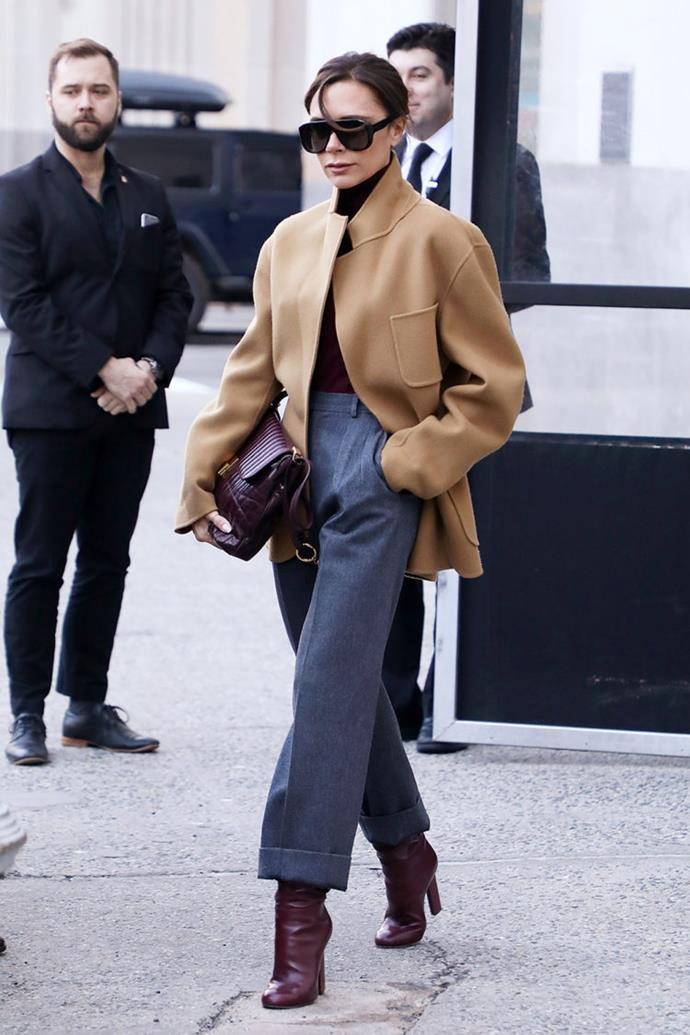 "**Victoria Beckham** Spotted out and about in New York. The designer and former [Spice Girl](http://www.nowtolove.co.nz/celebrity/entertainment/stop-right-now-all-your-questions-answered-about-the-spice-girls-reunion-36360|target=""_blank""