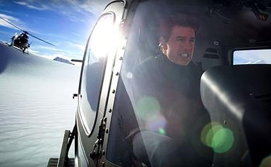 Tom Cruise's epic Mission Impossible helicopter stunt in Queenstown