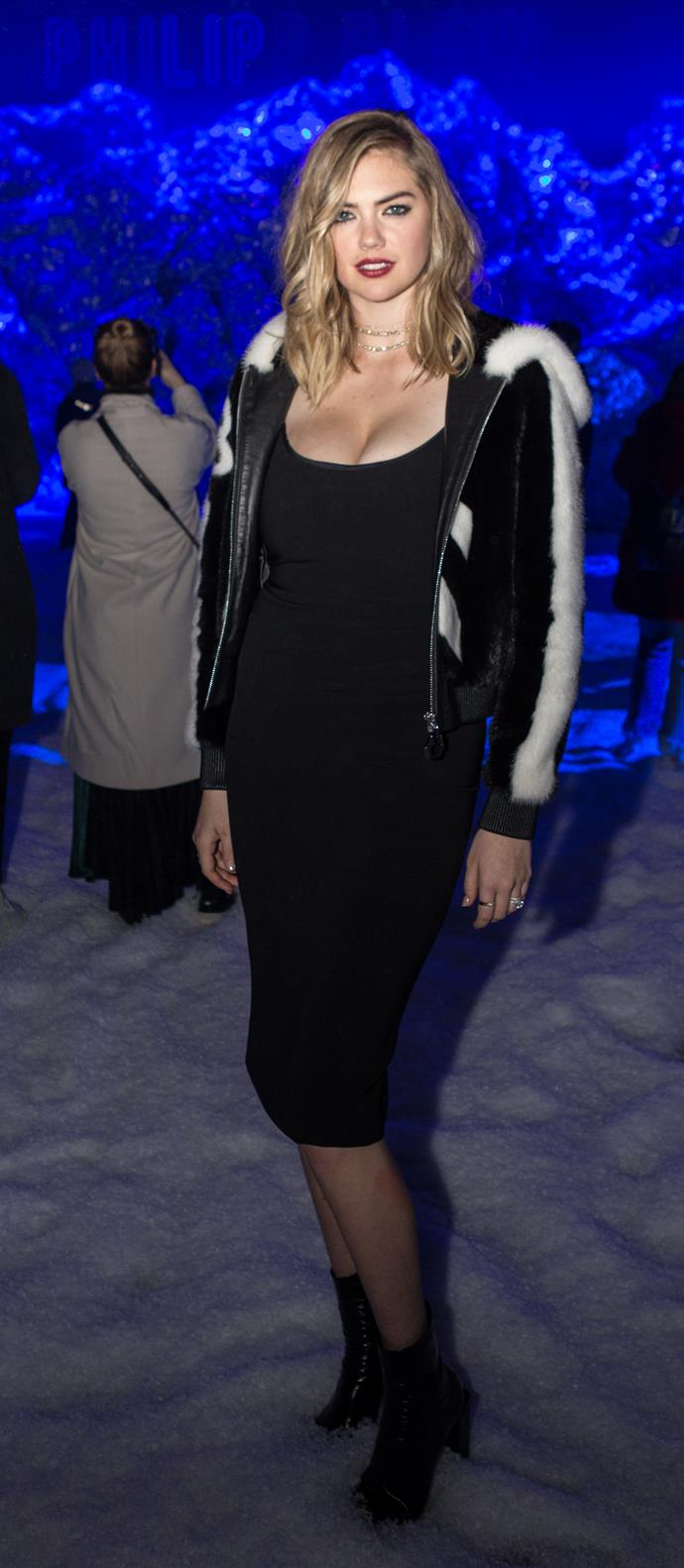 **Kate Upton** at The Philipp Plein Fashion show.