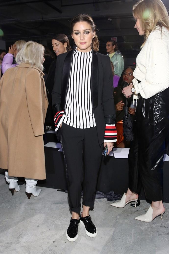 **Olivia Palermo** at the Tibi fashion show.