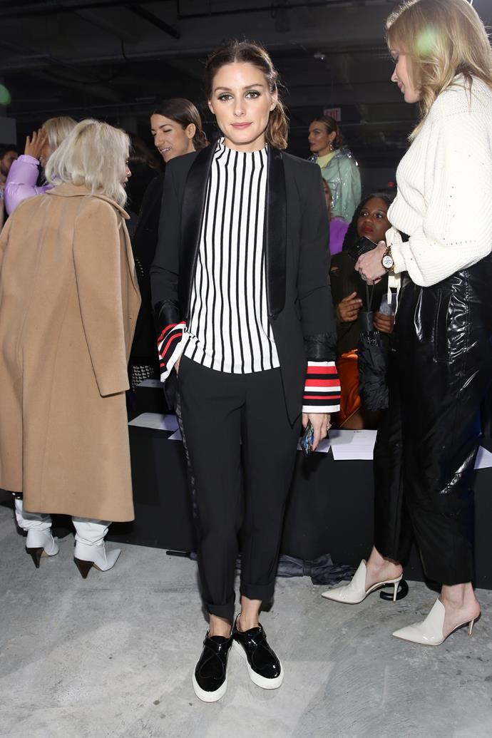 **Olivia Palermo** at the Tibi fashion show.