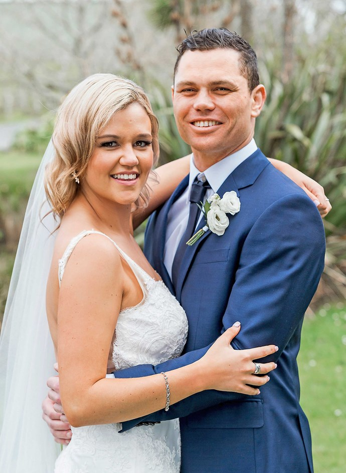 The couple at their wedding on *Married At First Sight NZ*.
