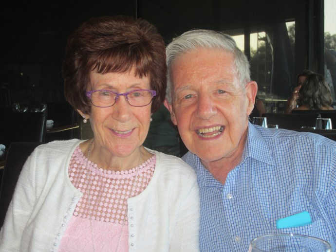 Ros and John Graham, happier than ever after 54 years of marriage.