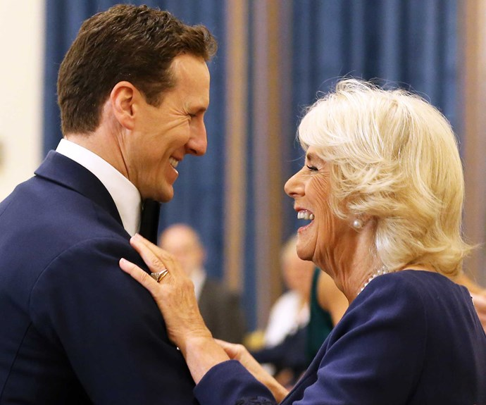 Brendan Cole dancing with Camilla, Duchess of Cornwall